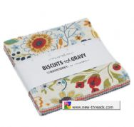 "Biscuits and Gravy  - Charm Pack by BasicGrey for Moda Fabrics - 42 x 5"" fabric squares"